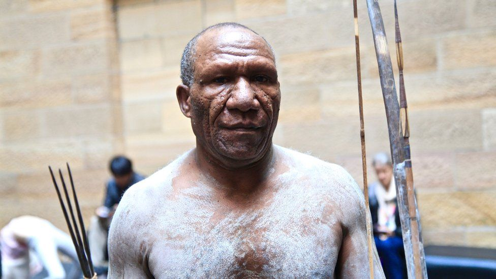 "Jim is one of four ""mud men"" in Sydney for the exhibition"