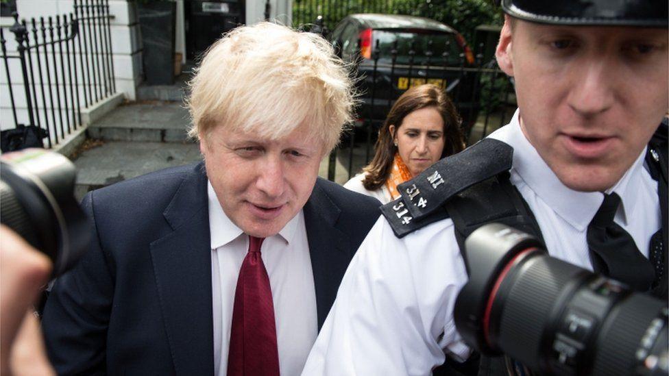 Boris Johnson returns home