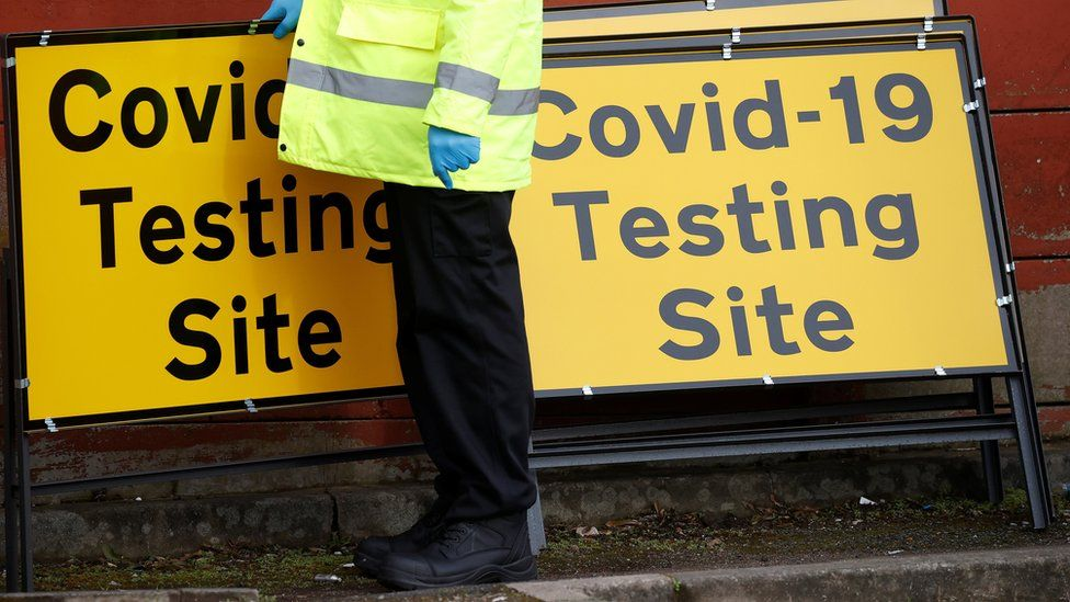 testing site signs