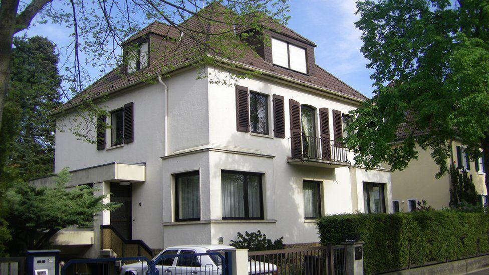The house on Goethestrasse where Elvis lived