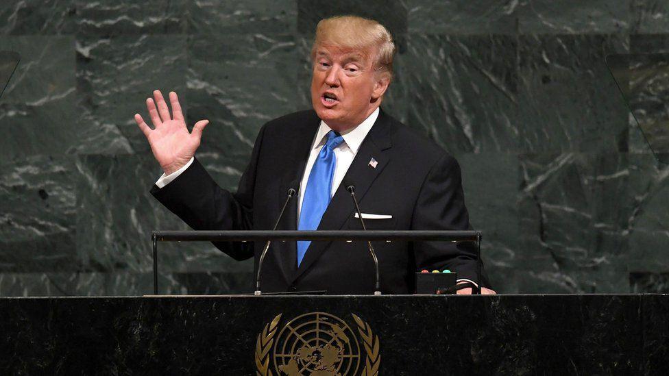 """Asamblea General de Naciones Unidas: Trump amenaza con """"destruir totalmente"""" Corea del Norte y llama """"inaceptable"""" la """"dictadura socialista"""" de Venezuela"""