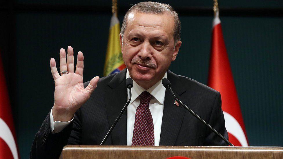 Recep Tayyip Erdogan - handout photo released 6 October