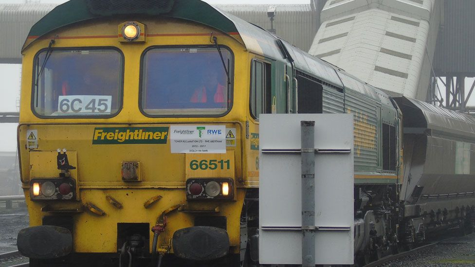The train from Tower carried 1,450 tonnes of coal - but this low volatile type of coal is being phased out