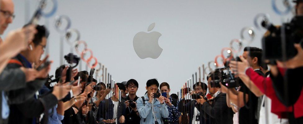 Image shows a demonstration of the newly released Apple products on 12 September 2018