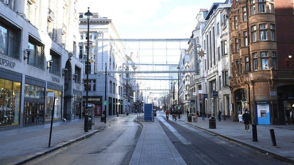 Empty Oxford Street