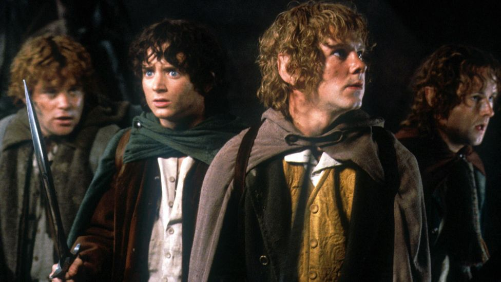 Still of the hobbits in Lord of the Rings