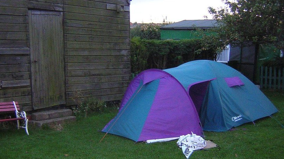 Dick Rodgers' tent in 2004, at what is now Crimdon Dene Holiday Park