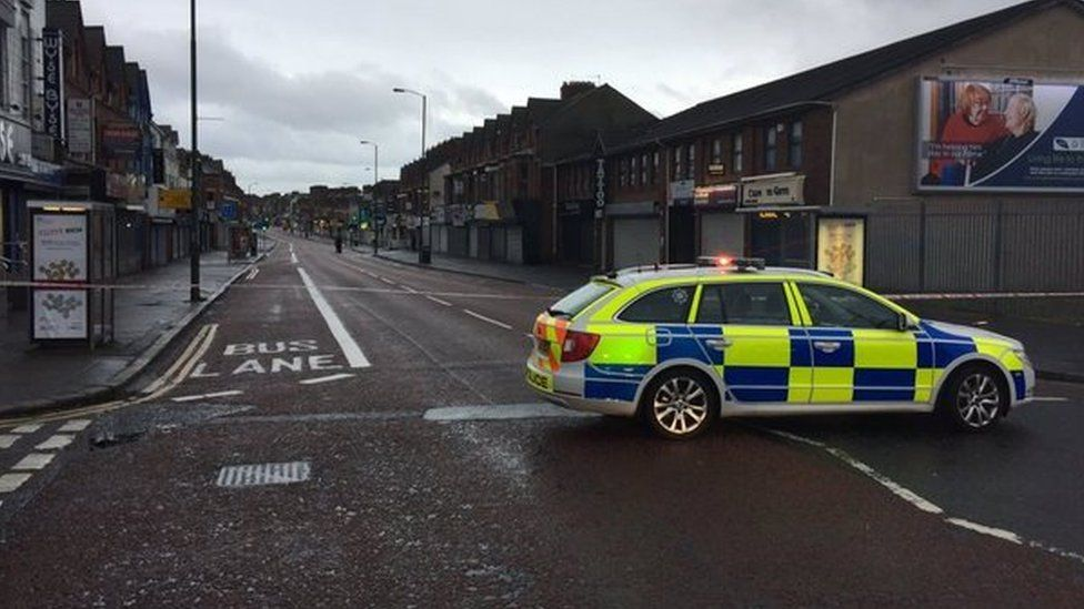Part of the Cregagh Road in east Belfast has also been closed