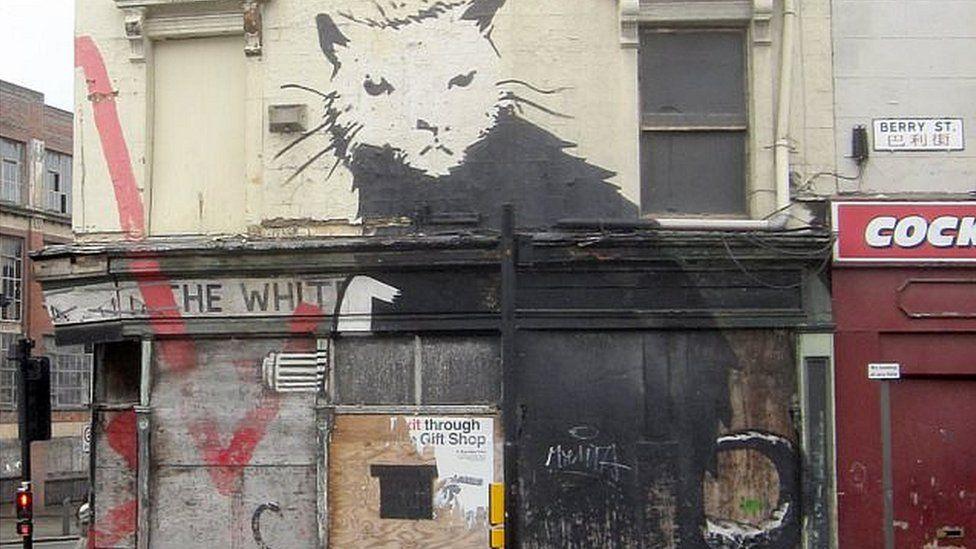 Liverpool Rat - Banksy work