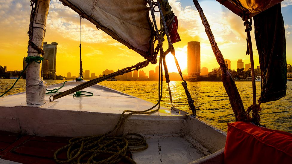 View from sailing boat on Nile