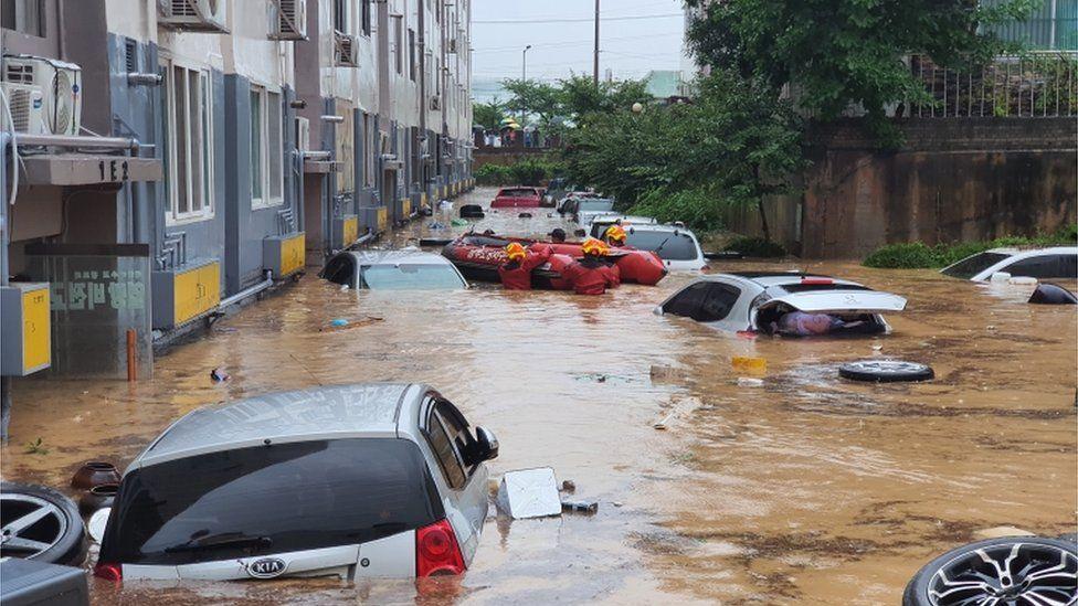 Flooding in Daejeon, South Korea, 30 July 2020