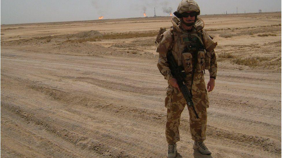 Paul Burt on patrol in Basra 2007