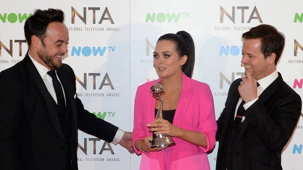 Ant and Dec and Scarlett Moffat
