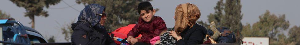 Syrians displaced by Turkey
