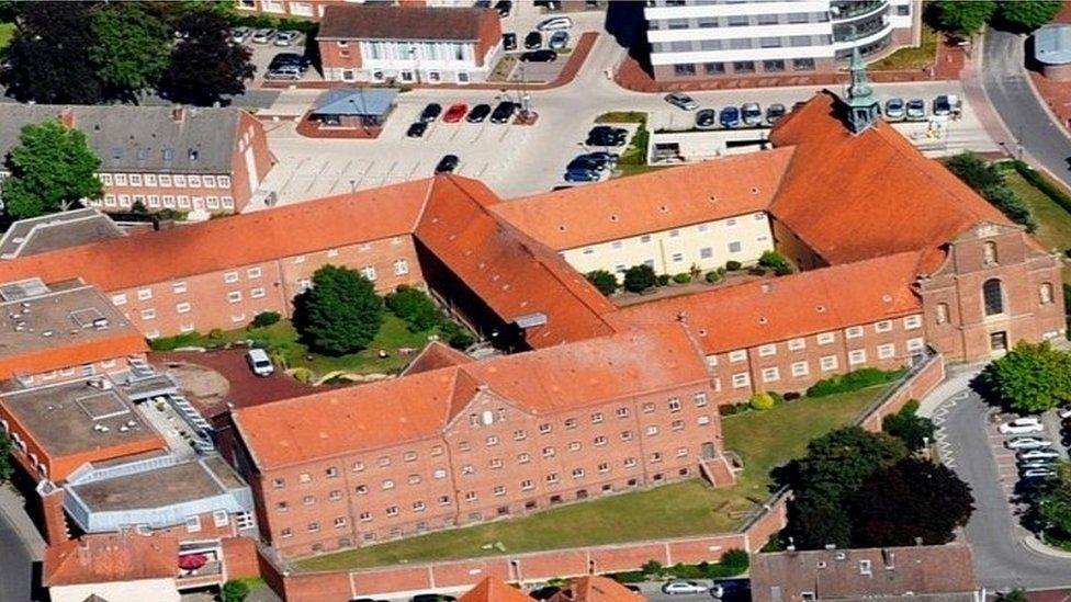 JVA Vechta aerial view