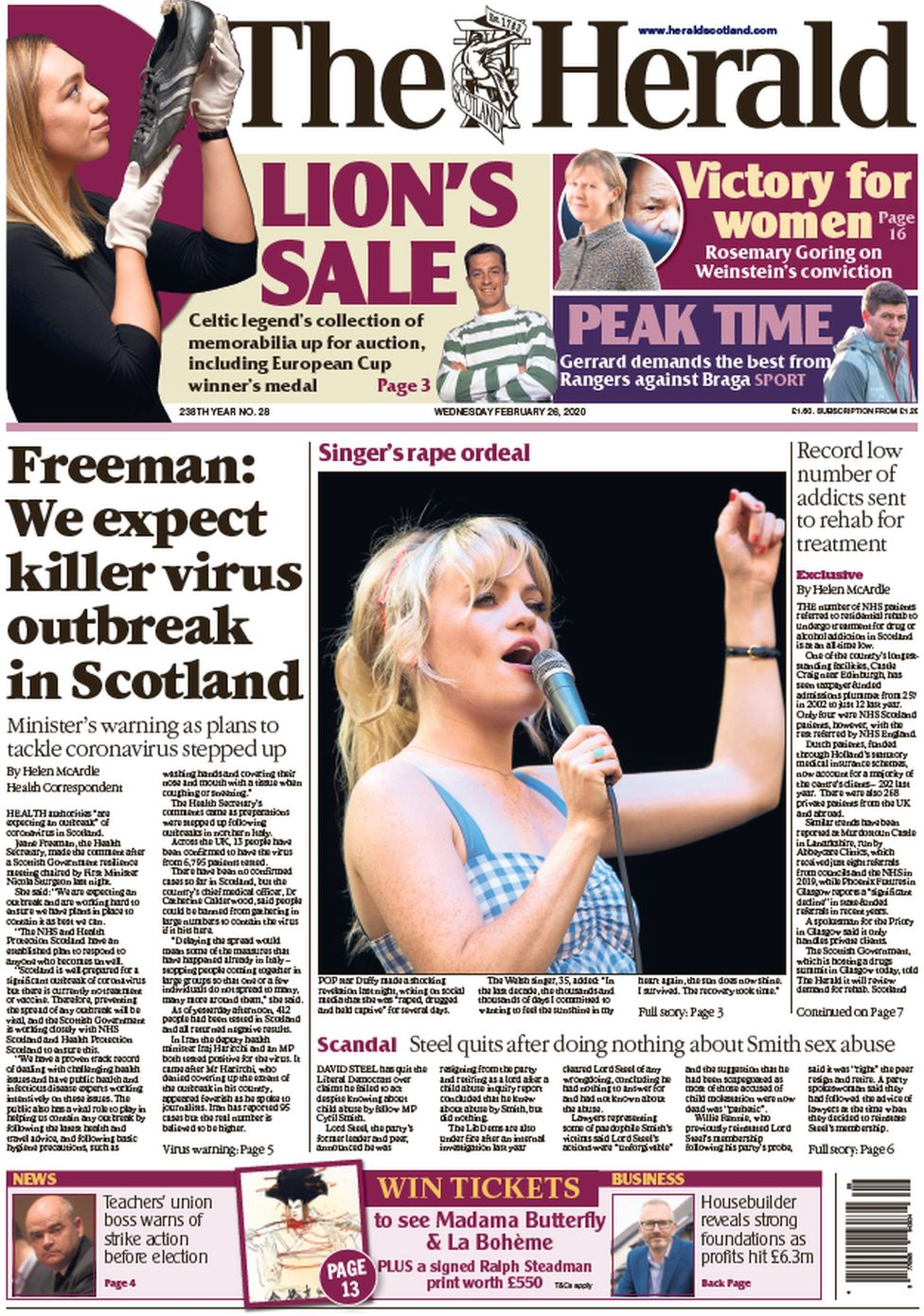Herald front page