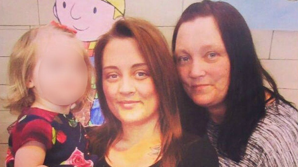 Emma-Jayne Magson with her mother and daughter