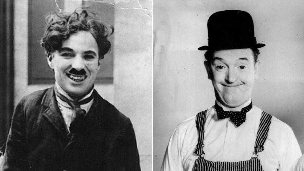Charlie Chaplin and Stan Laurel