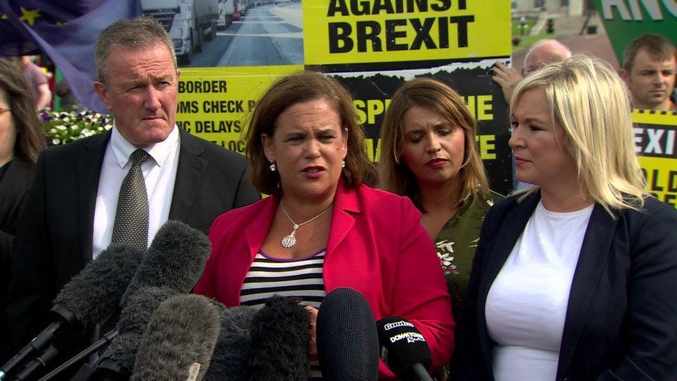 Sinn Féin President Mary Lou McDonald gave a press conference after her meeting with the prime minister