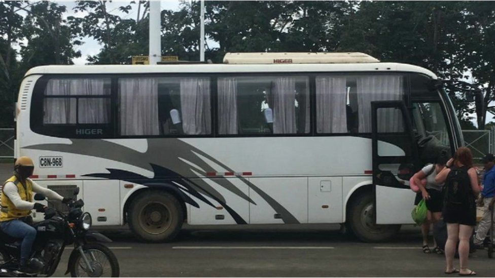 G Adventures tour bus