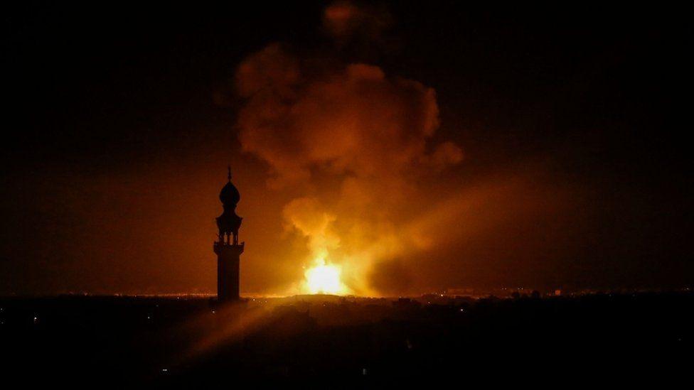 Israeli air strike on Rafah, Gaza Strip, 5 May 2019