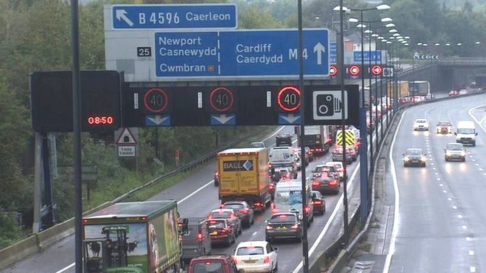 M4 motorway near Newport