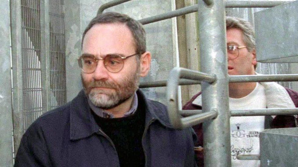 Brighton bomber Patrick Magee leaving the Maze prison