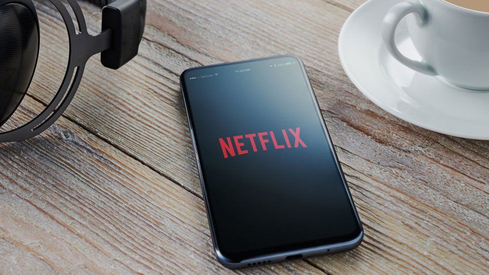 Netflix app on smartphone