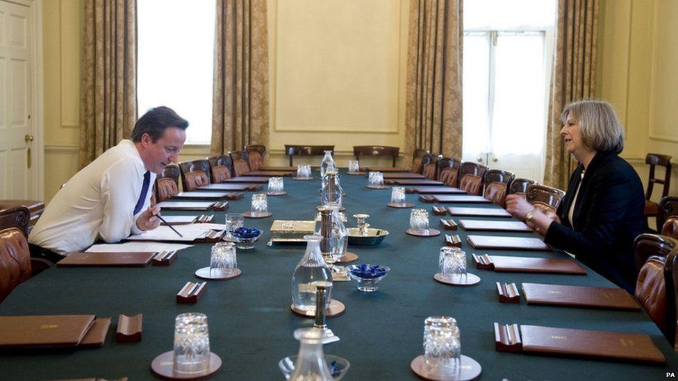 Theresa May with David Cameron in 2014