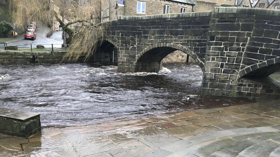 The river in Hebden Bridge