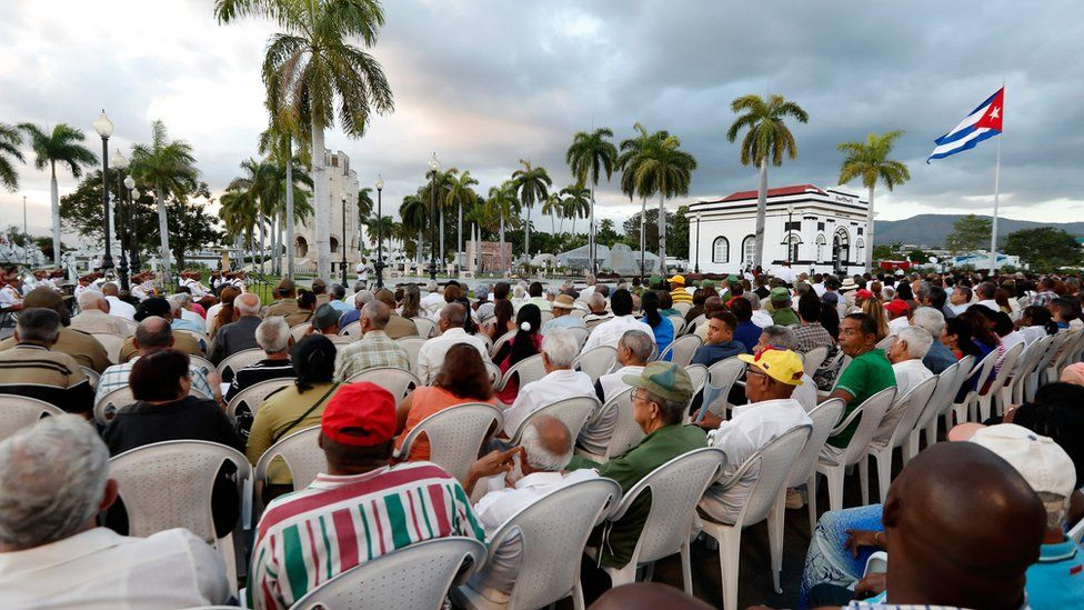 View of the ceremony in the Santa Ifigenia cemetery in Santiago de Cuba, on January 1, 2019