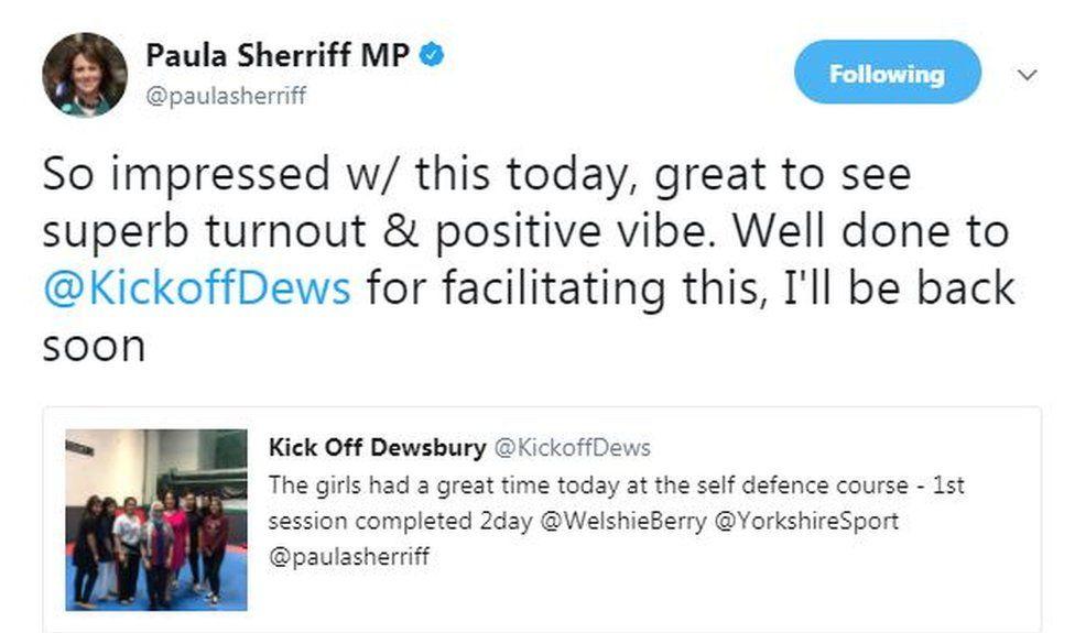 Paula Sherriff tweet