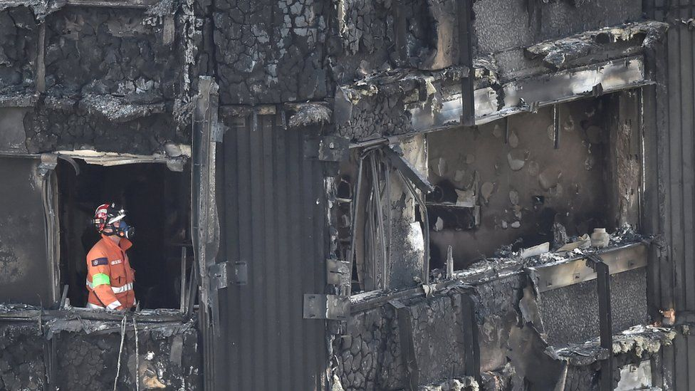Firefighter at Grenfell Tower