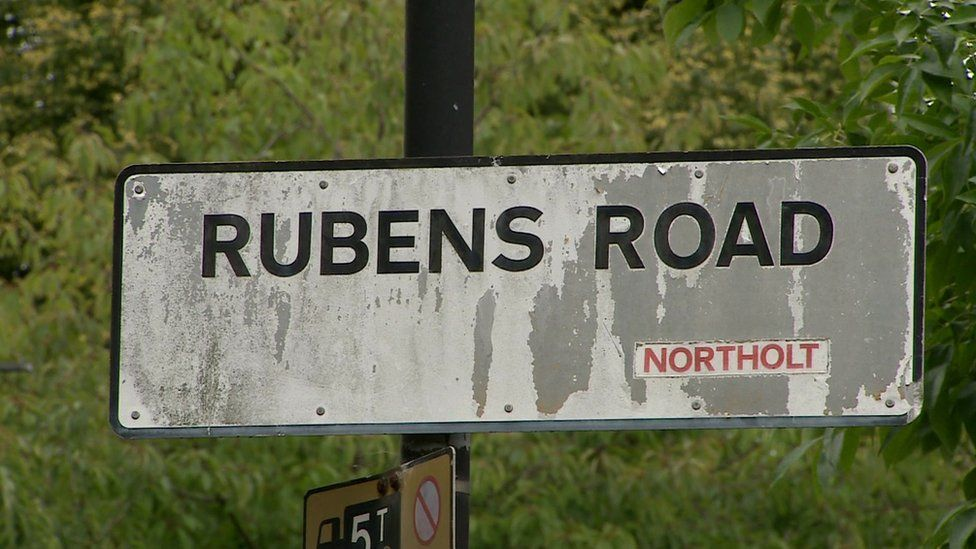 Rubens Road - where the attack happened