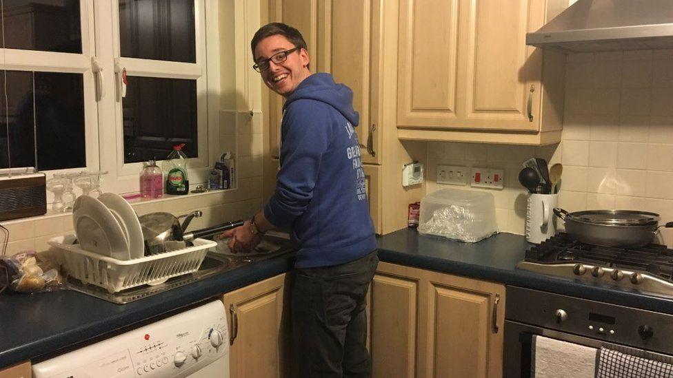 Andrew Douglas in his kitchen