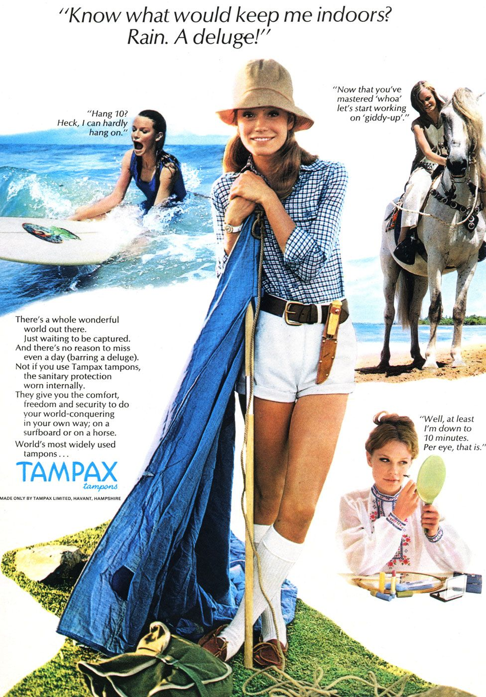 Tampax advert from 1971