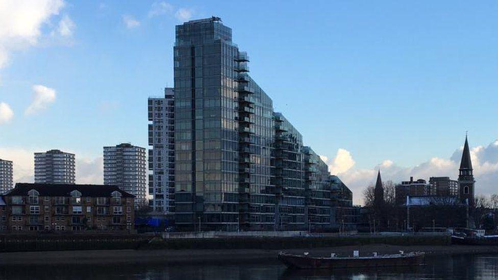 Thames apartment block