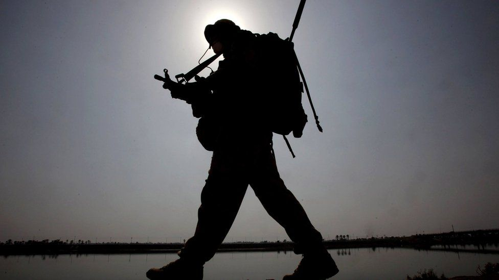 Soldier in silhouette (file image)