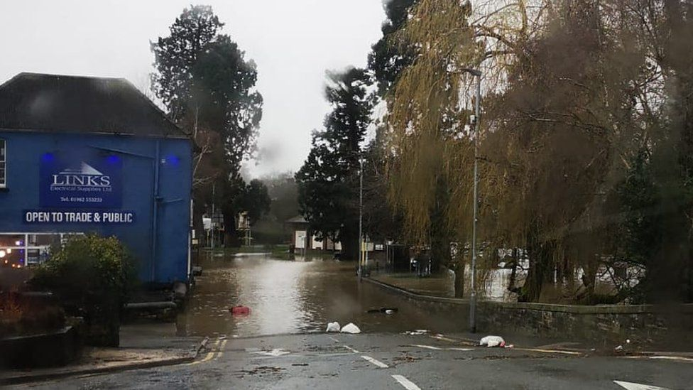 flooding in Builth Wells