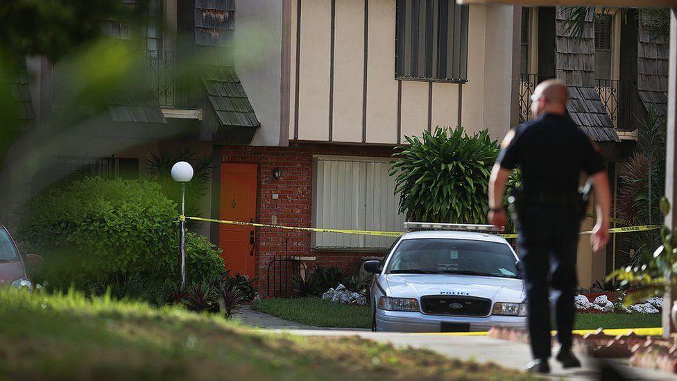 Miami Police investigate a crime
