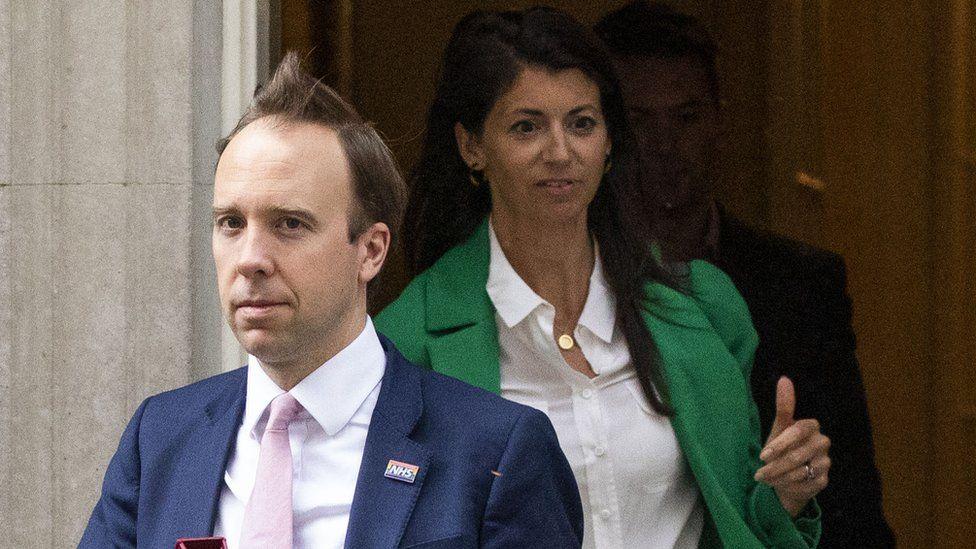 Matthew Hancock and Gina Coladangelo