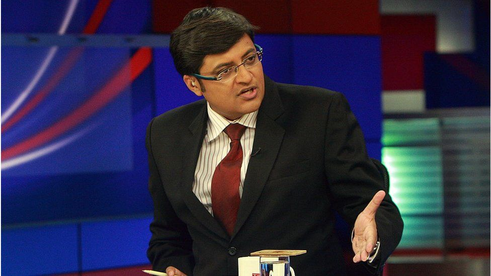 Arnab Goswami, Indian Journalist, Editor in Chief and News anchor of the news channel Times Now at his office in Mumbai.