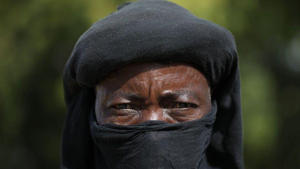 A member of a local vigilante group in Zamfara state