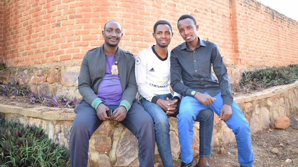 Jean Paul,(left), Ibrahim (centre), Oswald.