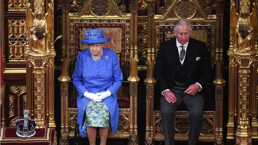 The Queen and Prince Charles at the last State Opening of Parliament