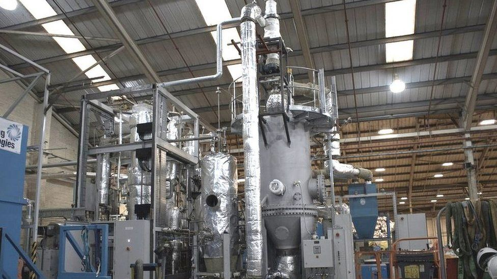"Recycling Technologies ""plastic-into-oil"" machine"