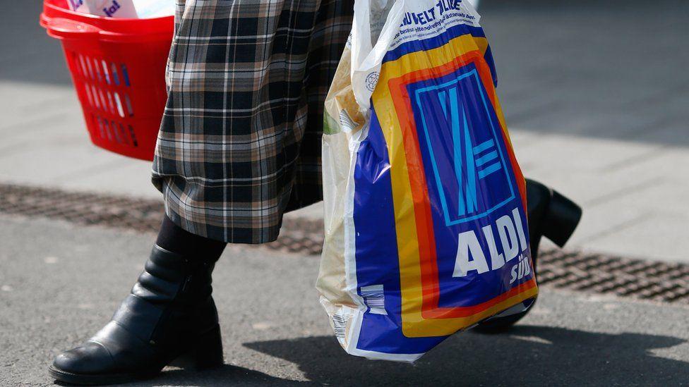 Aldi shopper in Germany