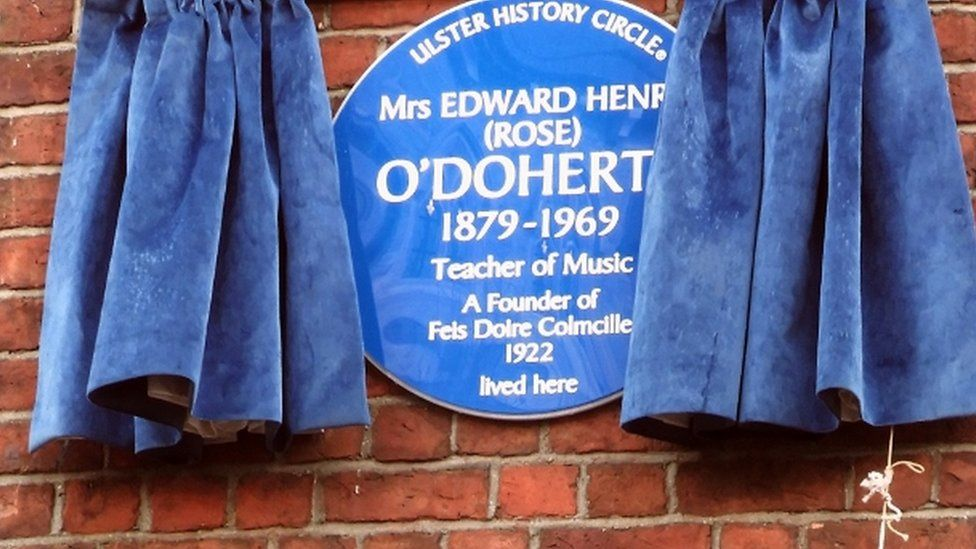 The blue plaque was unveiled on Friday