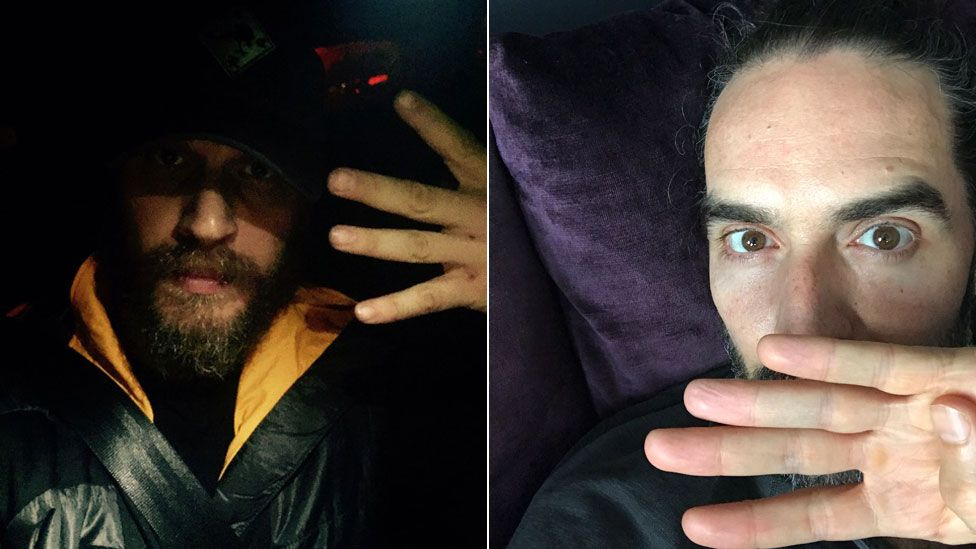 Tom Hardy and Russell Brand