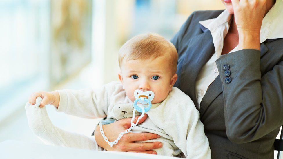 Baby with working mum